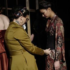 Lena Hoschek: Model auf der Fashion Week in Berlin