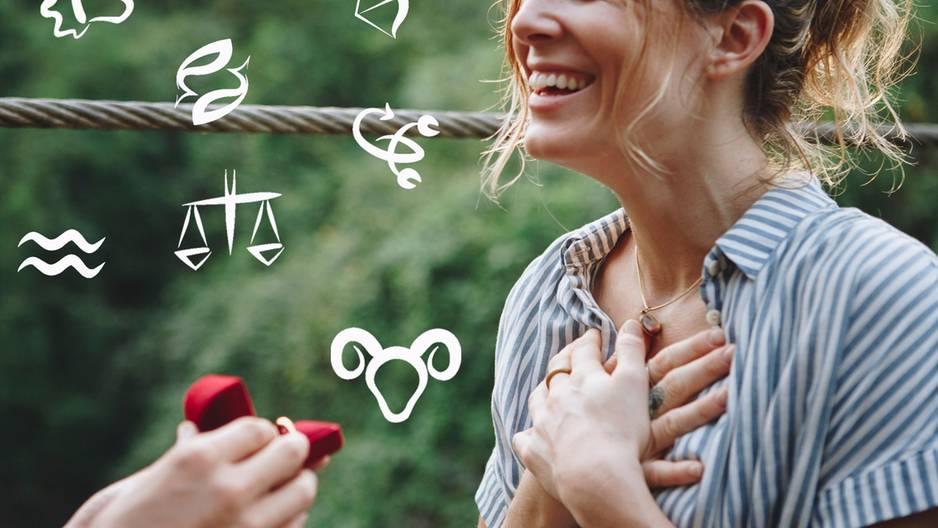 Diese drei Sternzeichen machen am schnellsten einen Heiratsantrag