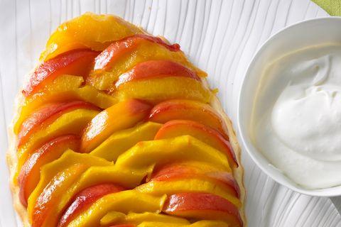 Tarte Tatin mit Nektarinen und Mango