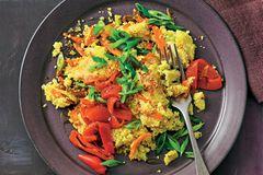 Brat-Couscous mit Paprika