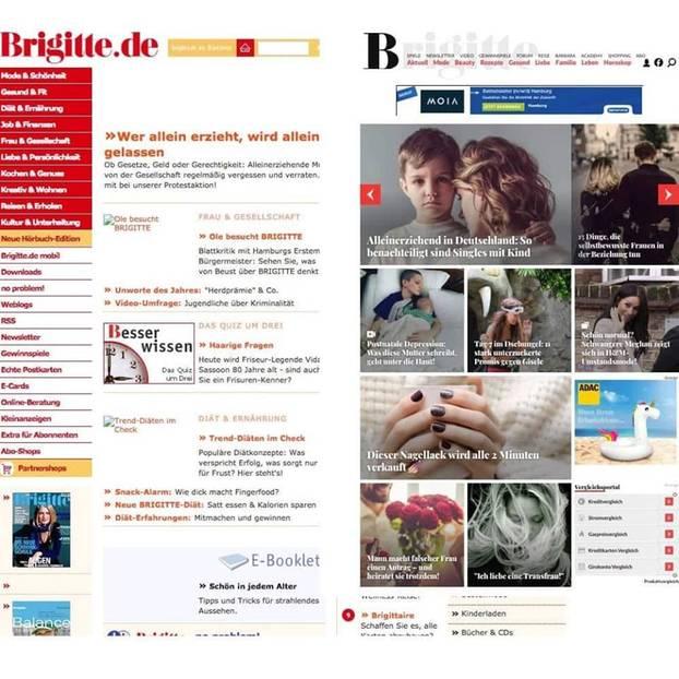 10YearChallenge: Brigitte heute und vor 10 Jahren