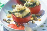 Gebackene Tomaten mit Kartoffel-Bärlauch-Füllung