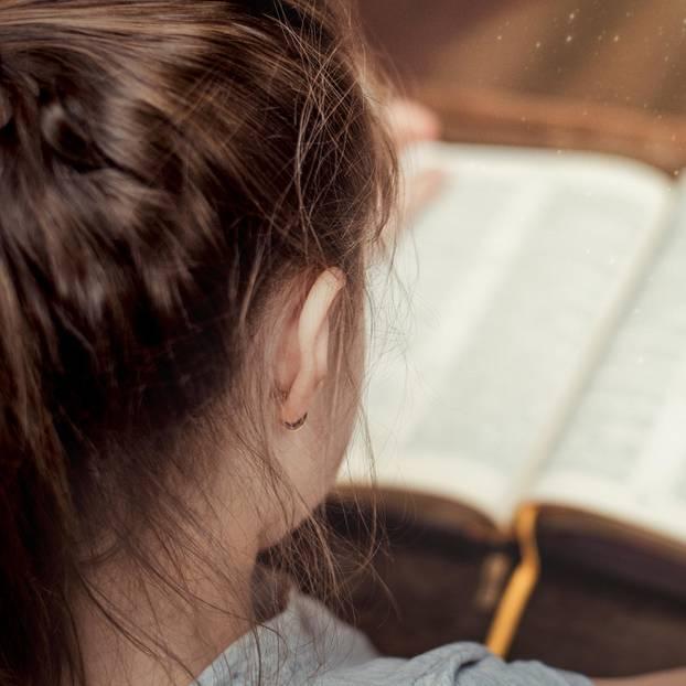Schülerin mit Buch