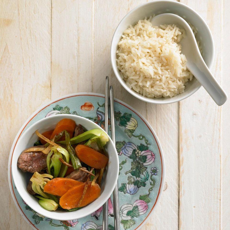 Entenbrust mit Gemüse
