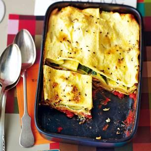 Zucchini-Lasagne mit Ricotta