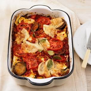 Gemüse-Lasagne mit Büffel-Mozzarella
