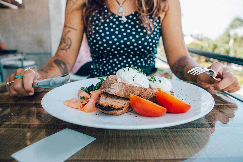 Macronutrients: plate of delicious food
