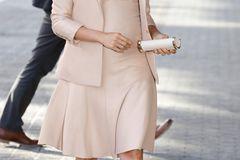 Meghan Markle: Meghan im rosafarbenen Kleid