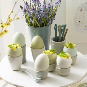 Eiersalat mit schlesischen Gurken