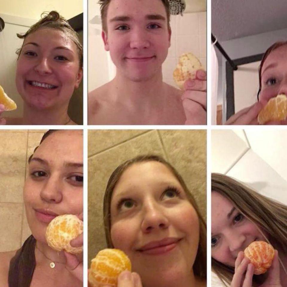 Hype: Wieso plötzlich alle ihre Orangen beim Duschen essen