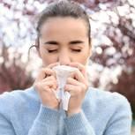 Heuschnupfen: Frau niest wegen Heuschnupfen