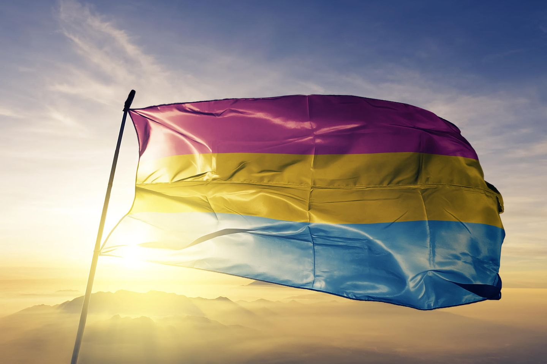 Pansexualität: Regenbogenflagge