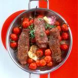 Lammfilet mit Tomaten und Thymian