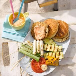 Veggie-Burger mit Ricotta-Käse