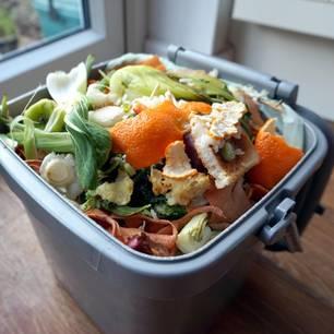 Was gehört in die Biotonne: Küchenreste in Box