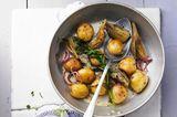 Kartoffelpfanne mit Estragon-Dip