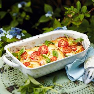 Tomaten-Ciabatta-Auflauf