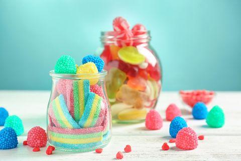 Zucker-Allergie: Süßigkeiten im Glas