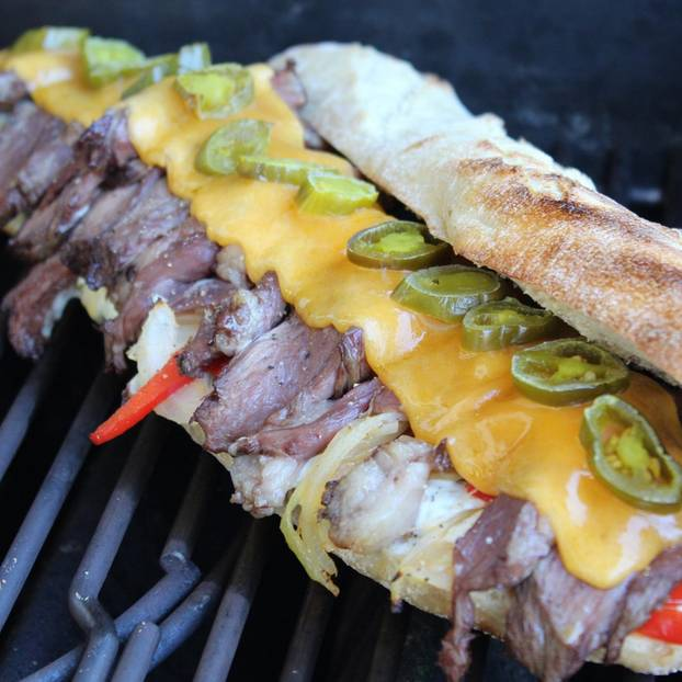 Hot Cheese Steak Sandwich