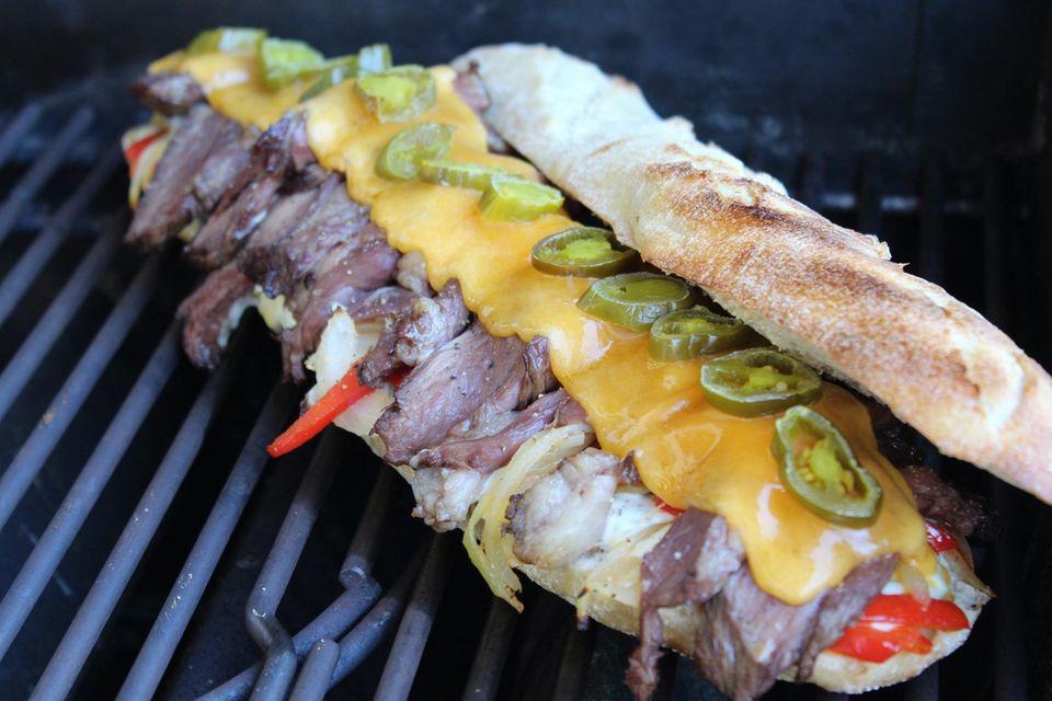 Hot Cheese Steak Sandwich