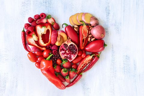 Farben-Fasten: Herz aus Gemüse