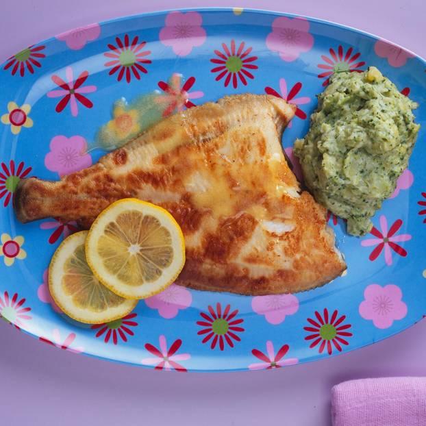 Scholle mit Brokkoli-Kartoffelpüree