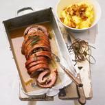 Lammrollbraten mit Kartoffelpüree