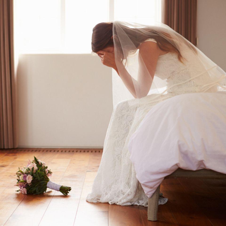 Braut weint