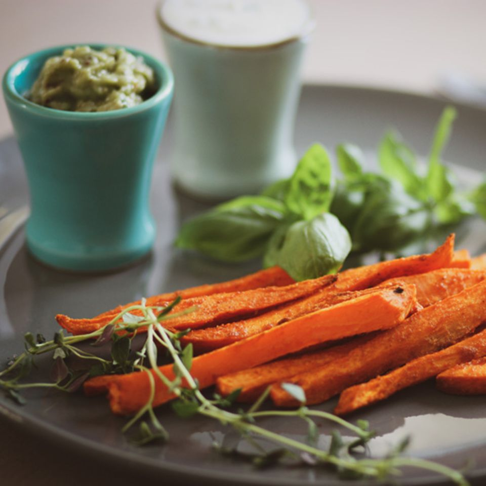 Sweet Potato Fries mit Dips