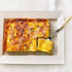Rhabarberkuchen mit Vanille-Quark-Guss