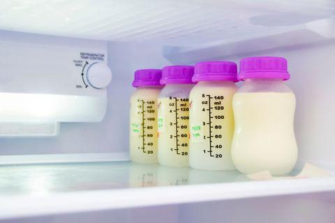 Muttermilch aufbewahren: Muttermilch im Kühlschrank