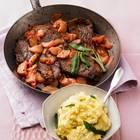 Kalbsschnitzel mit Rhabarber und Salbei