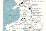 """Der idyllische """"Offa's Dyke Path"""" führt durch Wales und England, in knapp zwei Wochen sind die 285 Kilometer erwandert, die Schwierigkeit ist moderat."""