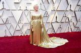 Sie strahlte mit der Oscar-Statue um die Wette.