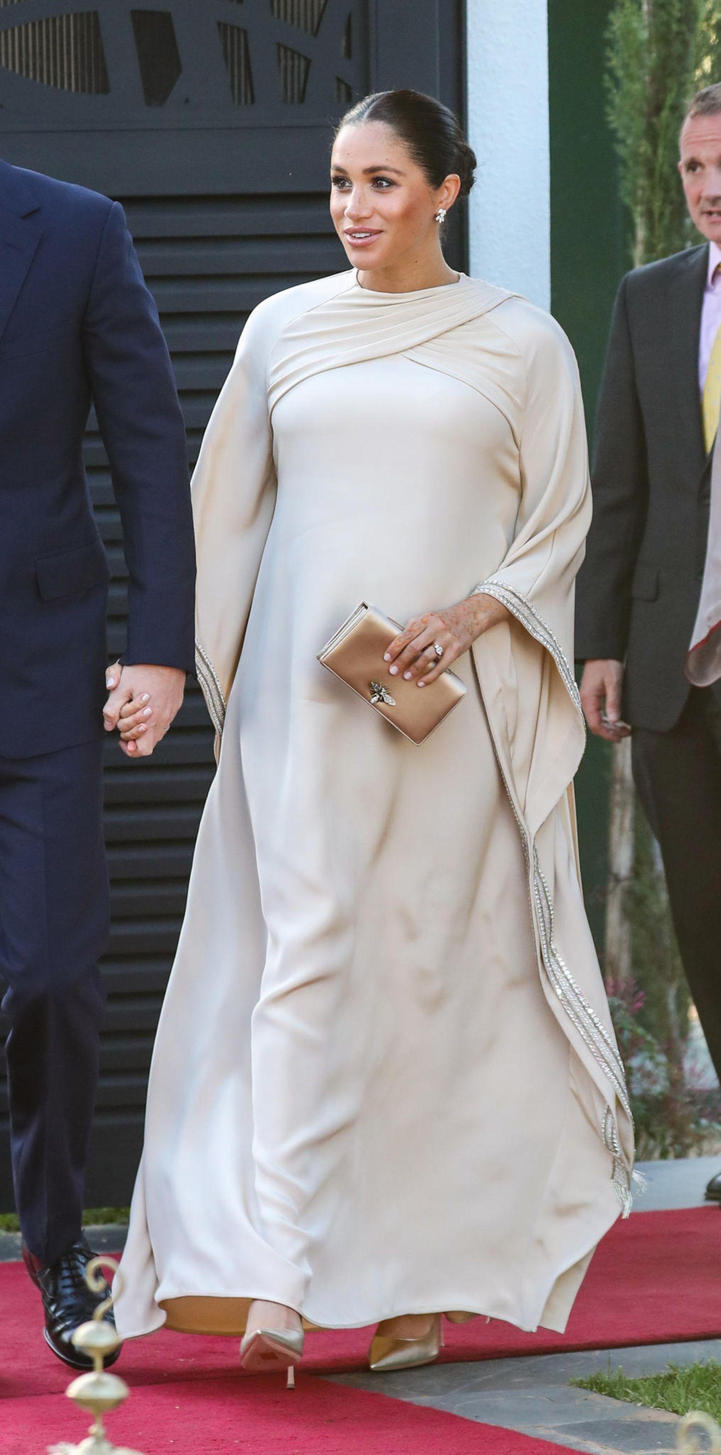Meghan Markle: Meghan in beigefarbenem Kleid