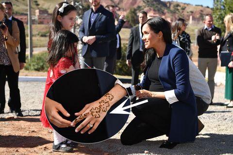 Meghan mit Henna-Tattoo in Marokko