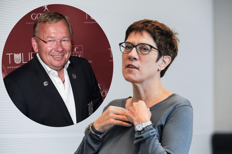 Comedian Bernd Stelter zieht über Annegret Kramp-Karrenbauer her