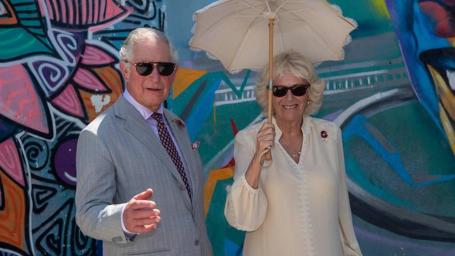 Prinz Charles zeigt hier seine Breakdance Fertigkeiten