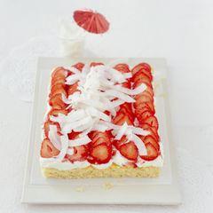 Erdbeer-Kokos-Kuchen
