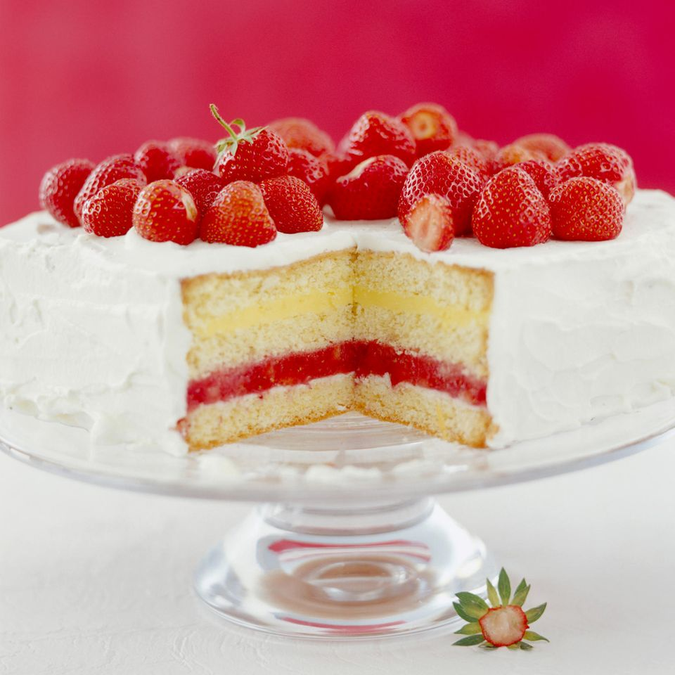 Erdbeer-Zitronen-Torte