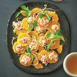 Mandarinen-Caprese mit Feldsalat