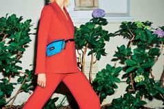 Bunte Hosenanzüge: Anzug in rot