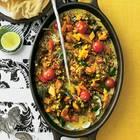 Dhal mit rotem Reis