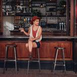 Parship-Studie: Eine Frau allein am Tresen