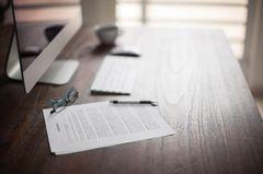 Aufhebungsvertrag: Vertrag liegt auf dem Tisch