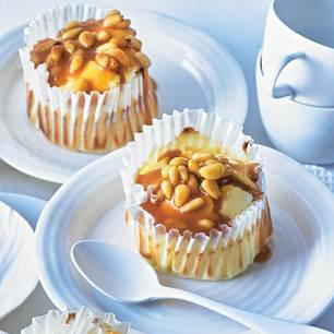 Käsekuchen-Muffins mit Salzkaramell