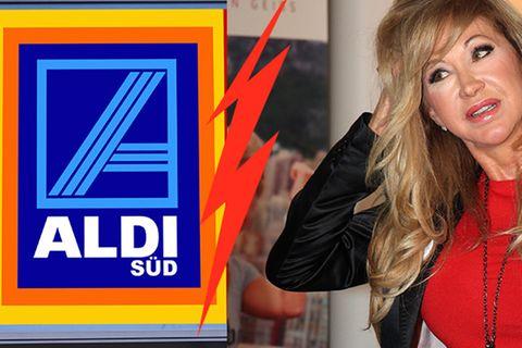 Blamage: Carmen Geiss verzweifelt an Aldi-Logo