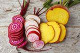 Alte Gemüsesorten: diese 7 solltest du kennen: verschiedene Beten aufgeschnitten
