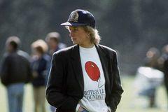 Der alte Styling-Trick von Lady Diana: Lady Diana mit Jeans und Cowboy Boots