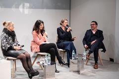 """""""Noch nie gab es so viel mediale und gesellschaftliche Aufmerksamkeit auf den Equal Pay Day"""" – hierstimmen alle Panelisten Brigitte Huber zu."""